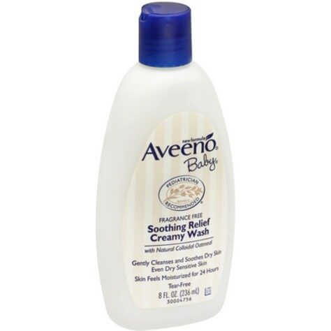 AVEENO Baby Fragrance Free Soothing Relief Creamy Wash 8 oz