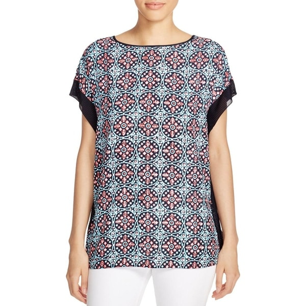 MICHAEL Michael Kors Womens Blouse Printed Sleeveless