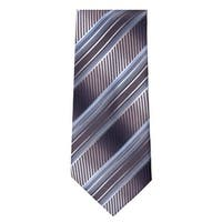 Marquis Men's Navy And Blue Stripes 3 1/4 Tie & Hanky Set TH102-014 - regular