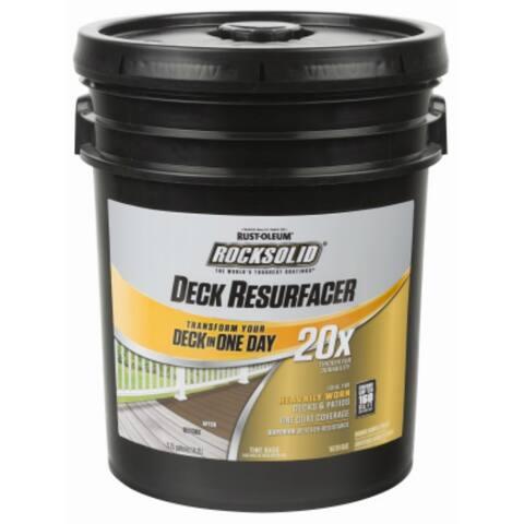 Rust-Oleum 300083 RockSolid 20x Deck Resurfacer, Adobe, 4 Gallon