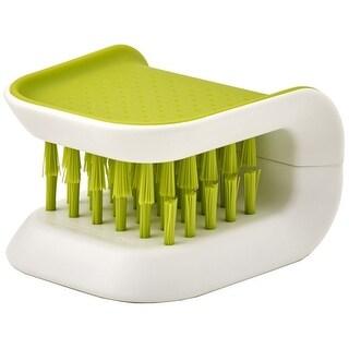 Joseph Joseph BladeBrush Knife and Cutlery Cleaner Brush Bristle Scrub Kitchen Washing Non-Slip, Green