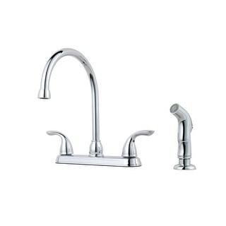Pfister G136-500 Pfirst Series Gooseneck Kitchen Faucet with Sidespray