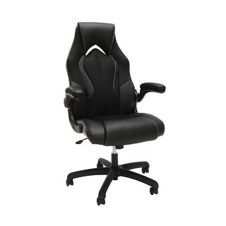Link to Essentials Ergonomic Leather and Mesh Racing Style Gaming Chair by OFM Similar Items in Home Office Furniture