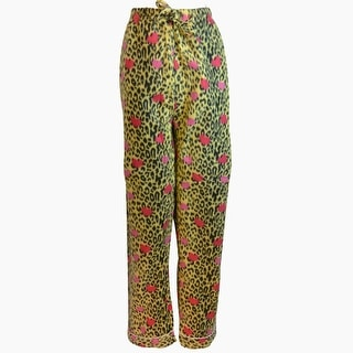 Women's Fleece Multi Pattern Pajamas Pants (Yellow)
