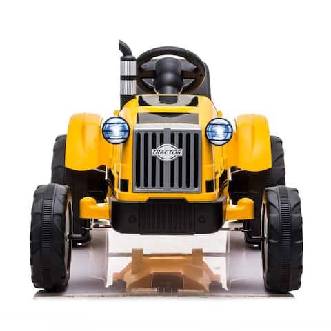 Toy Tractor with Trailer 3-Gear-Shift Ground Loader Ride On with Light