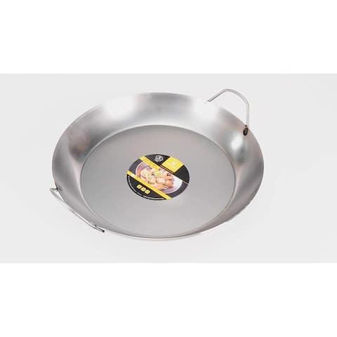 """Matfer Bourgeat 062052 Black Steel Paella Pan, 14 1/8"""" In. Diameter"""