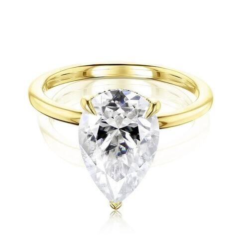 Annello by Kobelli 14k Gold Piper Ring (DEF/VS, DEF/VS)