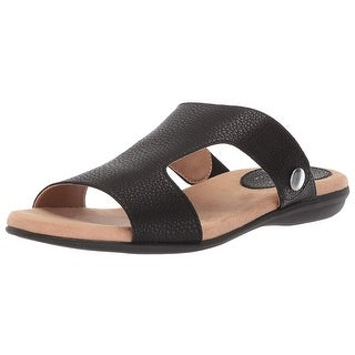 LifeStride Womens Baha Open Toe Casual Slide Sandals