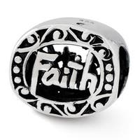 Sterling Silver Reflections Faith Bead (4mm Diameter Hole)