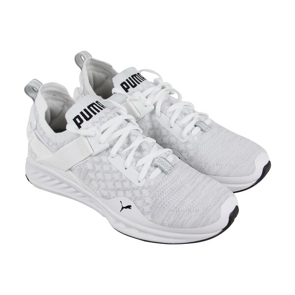3d3c3f1e8dd36 Puma Ignite Evoknit Lo Mens White Textile Athletic Lace Up Running Shoes