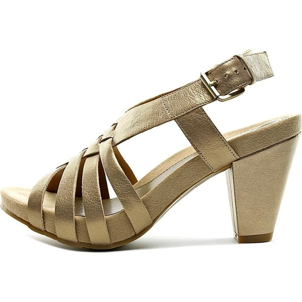 Easy Spirit Womens Renasi Leather Open Toe Casual Slingback Sandals