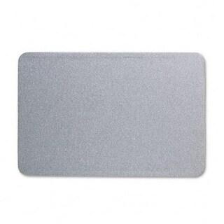 Quartet 7683G Oval Office Fabric Bulletin Board 36 x 24 Gray