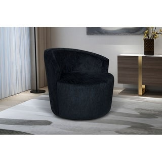 Link to Carly Upholstered Swivel Chair, Midnight Blue Velvet Similar Items in Living Room Chairs