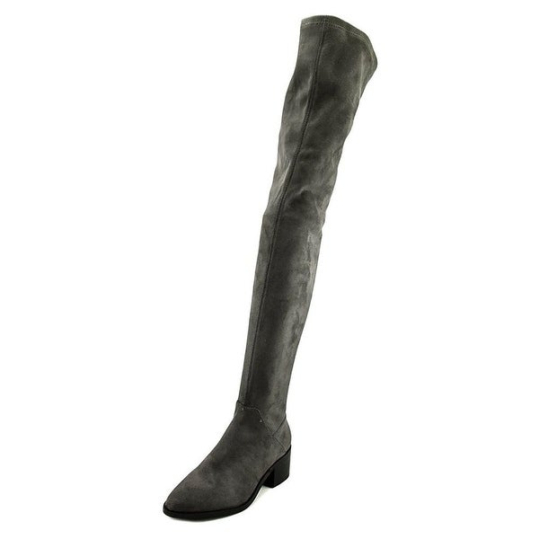 Steve Madden Womens Gabriana Suede Almond Toe Over Knee Fashion Boots