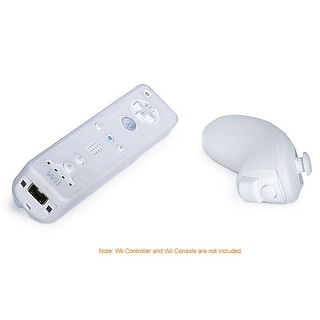 MonopriceSilicone Skin for Wii Remote Control and Nunchuk - White