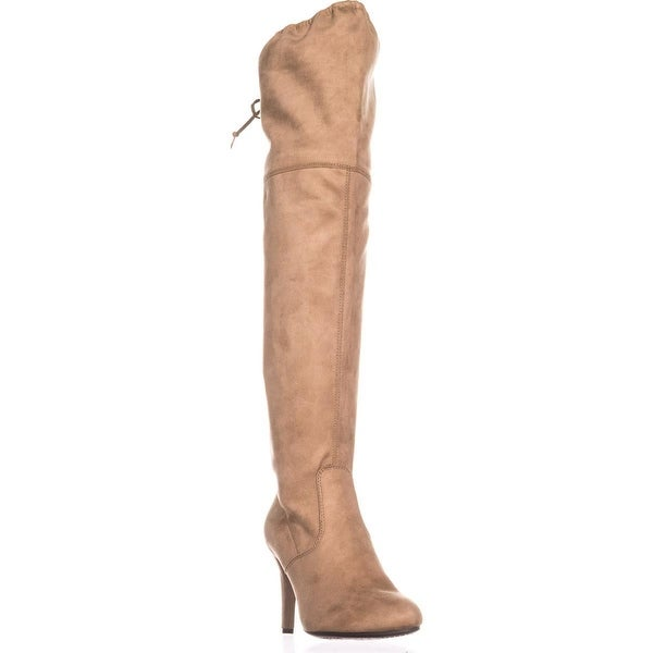 Rialto Calla Pull On Over-The-Knee Boots, Nude