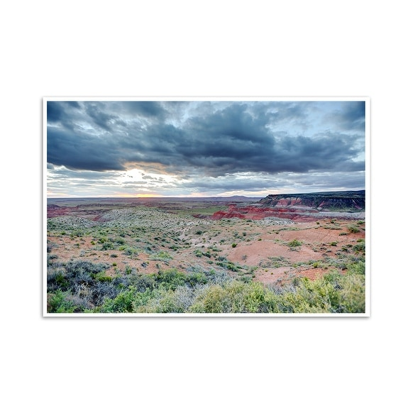 Painted Desert - Petrified Forest National Park, Arizona - Capturing America - 36x24 Matte Poster Print Wall Art