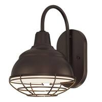 Millennium Lighting RWHWB8 R Series 1 Light Outdoor Wall Sconce with Wire Glass Guard - 8 Inches Wide