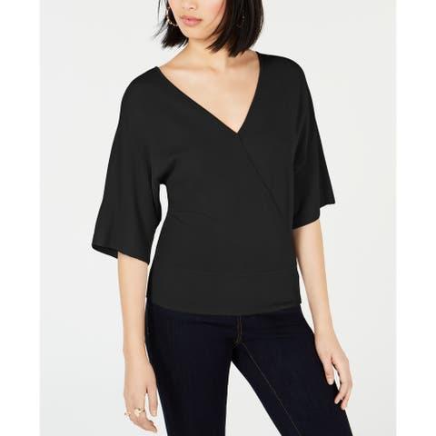 Bar III Women's Back Cutout Sweater, Black, Small