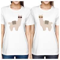 Llamas With Sunglasses Cute Design Best Friend Matching Shirts Gift