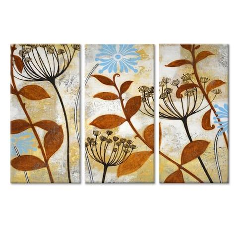 'Meadow Melody I/II/III' 3 Pc Wrapped Canvas Wall Art Set by Norman Wyatt Jr.