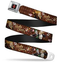Harley Quinn Diamond Full Color Black Red Harley Quinn 3 Bombshell Poses Seatbelt Belt
