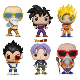 Warp Gadgets Bundle - Funko Pop! Animation: Dragonball Z - Super Saiyan Goku, Vegeta, Trunks, Gohan, Master Roshi W/...