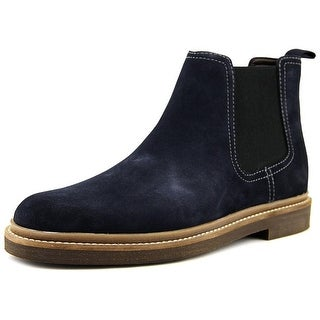 Clarks Bushacre Up Men  Round Toe Suede Blue Boot