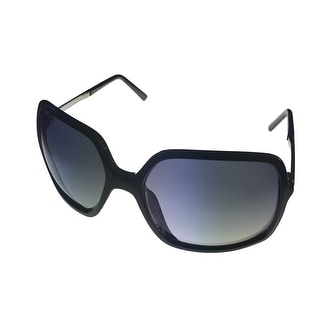 Kenneth Cole Reaction Plastic Black Rectangle Sunglass Gradient Lens KC1211 1B - Medium