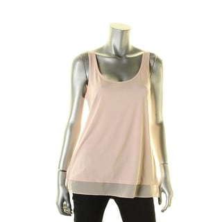Ralph Lauren Womens Casual Top Sheer Hem Sleeveless