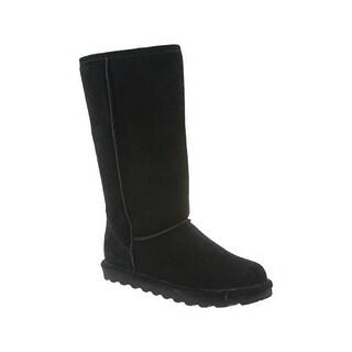BEARPAW Women's Elle Tall Fashion Boot, Black, 10 M US