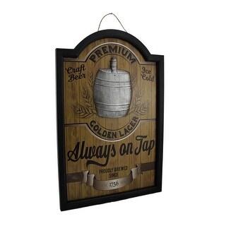 Always On Tap Premium Lager 3D Wood Pub Sign