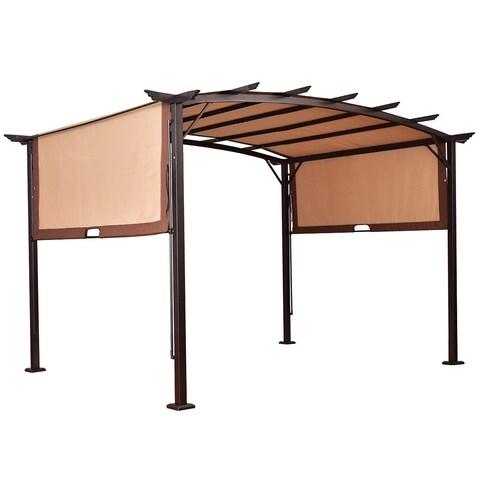 Gymax 12' x 9' Pergola Kit Metal Frame Gazebo Canopy Cover Patio Shelter