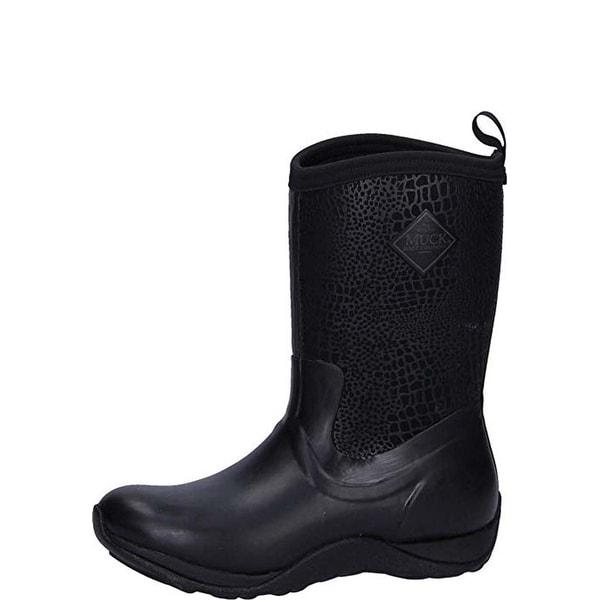 f5914c4517b Muck Boot Women's Arctic Weekend Black/Croc Print Size 11 Mid Winter Boots