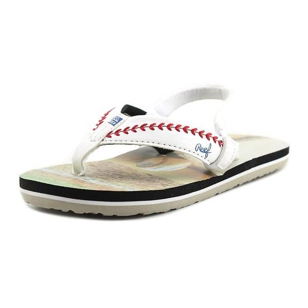 773abd6b3f5f Reef Grom Baseball Toddler Open Toe Synthetic Multi Color Flip Flop Sandal