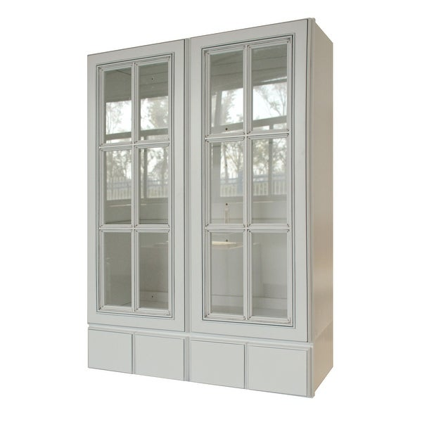 """Sunny Wood RLW3042GD4-A Riley 30"""" Wide x 42"""" High Double Door Wall - White. Opens flyout."""
