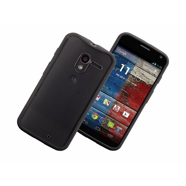 Griffin - Reveal Protective Clear Case with Black Trim for Motorola Moto X - Bla