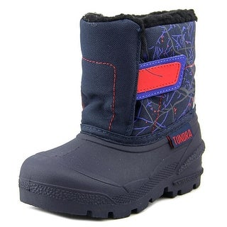 Tundra Smile Toddler Round Toe Synthetic Blue Snow Boot