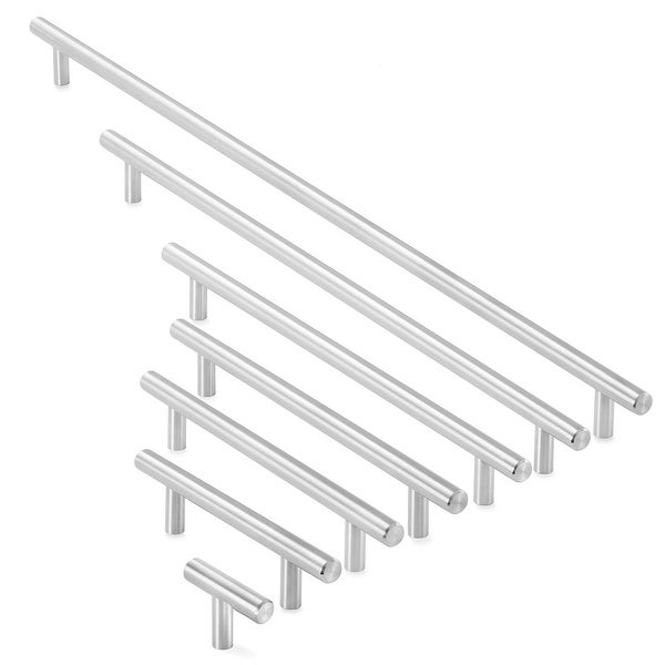 Solid Stainless Steel Cabinet Hardware Brushed Satin Nickel- Cauldham. Opens flyout.
