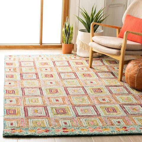 SAFAVIEH Handmade Aspen Liba Bohemian & Eclectic Tribal Wool Rug