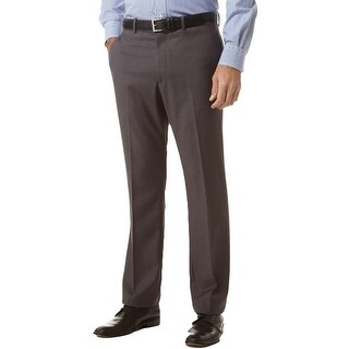 Perry Ellis Mens Dress Pants Solid Slim Fit