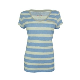 Style & Co. Women's Short Sleeve Striped Tee