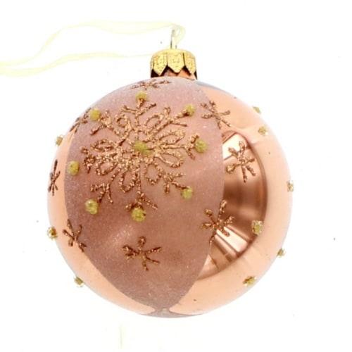Copper Snowflake Ball