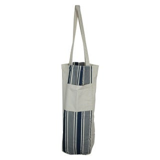"""Link to 25"""" Blue and White Striped Hanging Storage Tote Bag - large Similar Items in Picnic"""