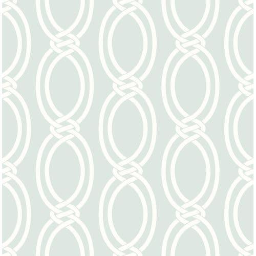 Brewster 2625-21838 Infinity Mint Geometric Stripe Wallpaper