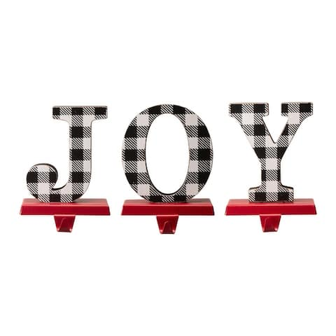 Glitzhome Christmas Word Stocking Holder Set
