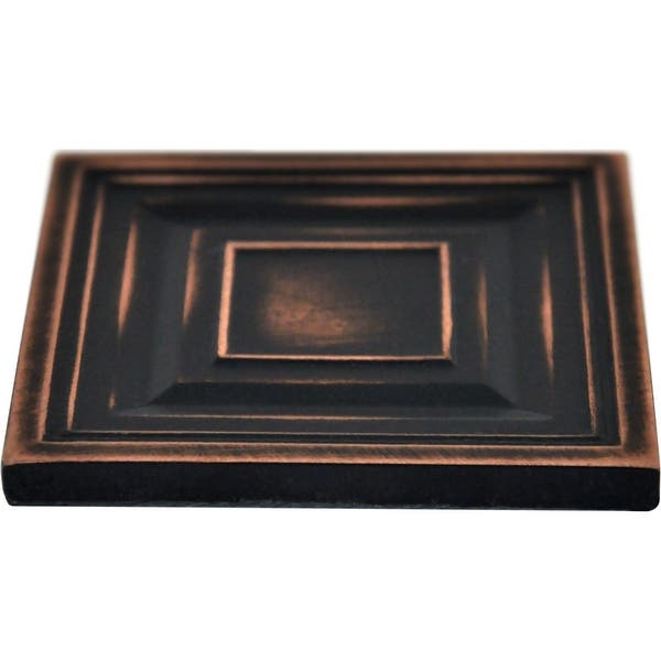 Bronze Metallic 2 X 2 Moroccon Resin Decorative Insert Accent Piece Tile Set of 8 PCS//Box