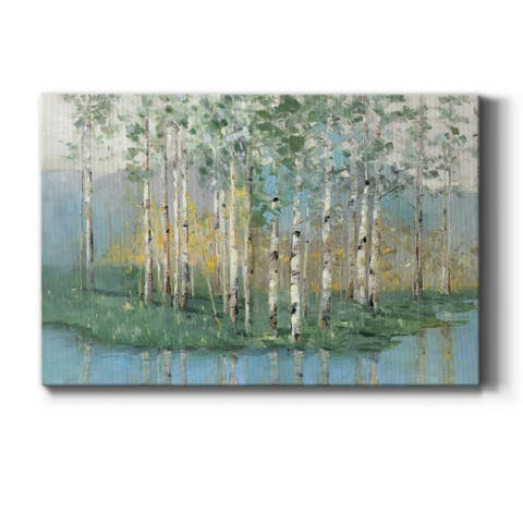 Birch Reflections Revisited Premium Gallery Wrapped Canvas - Ready to Hang