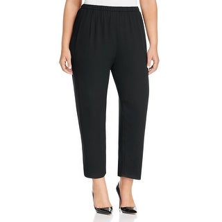 Eileen Fisher Womens Plus Ankle Pants Crepe Pleated