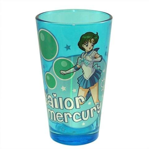Sailor Moon Sailor Mercury 16oz Blue Pint Glass - Multi